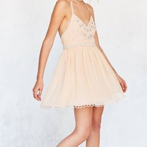 Urban Outfitters Sequin Peachy Nude Dress